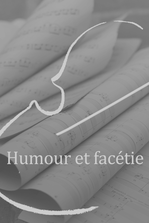 humour et facetie